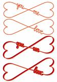 heart shaped infinity sign, vector