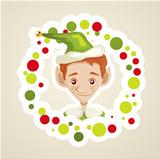 Cute elf christmas card