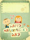 Vintage Design Valentines Day Card