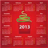 2013 calendar in English