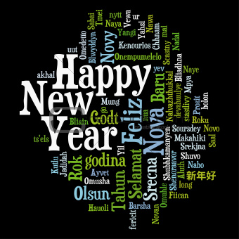 New Year Tag Cloud