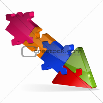3D Puzzle Jigsaw Arrow