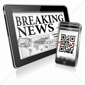 Concept - Digital News on Tablet PC and Smartphone