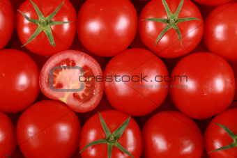 Tomatoes forming a background