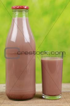 Fresh chocolate drink