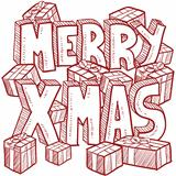 Merry Christmas message sketch
