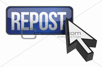 repost button and cursor