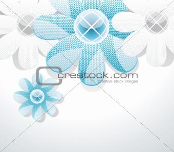3d glass flowers