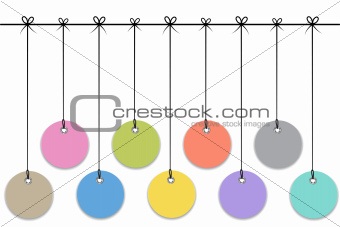 Blank hanging baubles