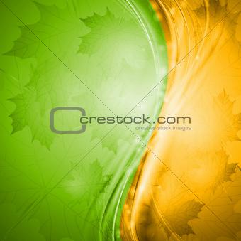 Bright wavy autumn design