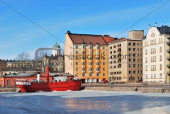 Helsinki in a sunny winter day