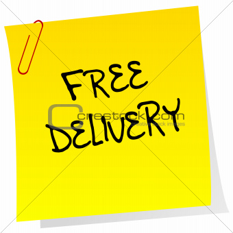 Post it with free delivery advertising
