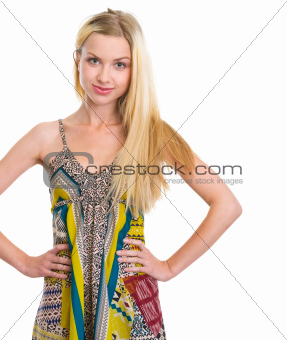 Portrait of young woman isolated on white