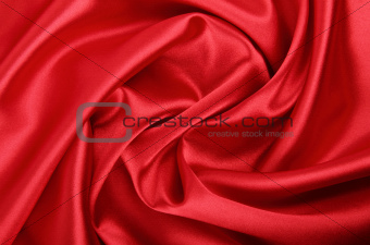 Smooth red textile background