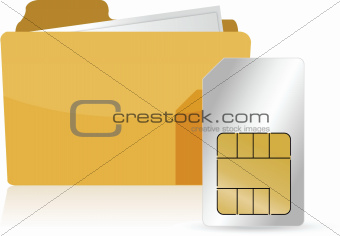 folder and sim card