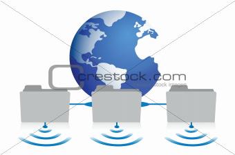 folder network glove wifi