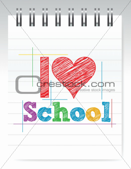 i love school sign