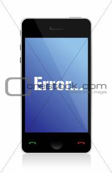 error message on phone