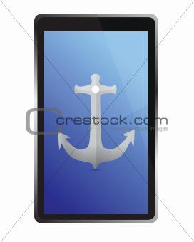 tablet navigation concept