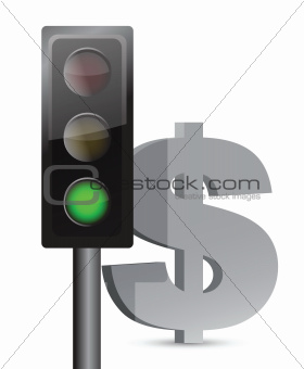 green light on dollar concept