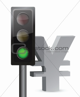 green light on yen concept