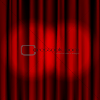 3 Red curtains