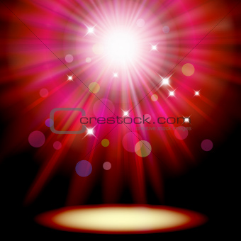 Background with red spotlight.