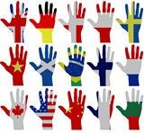 Flag hands