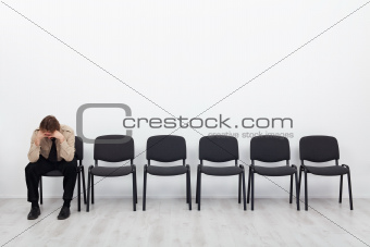 Lonely and desperate businessman