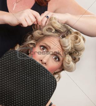 Nervous Customer in Hair Salon