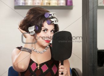 Lady Feeling New Hairdo