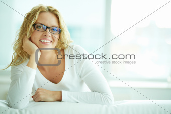 Female in eyeglasses