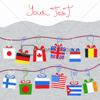 Background from Gifts from around the world