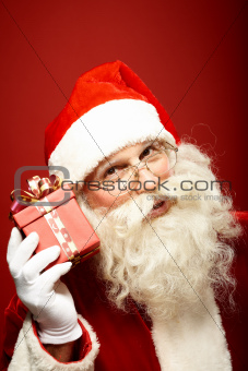 Santa with giftbox