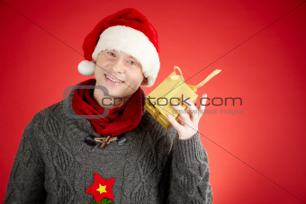 Guy with present