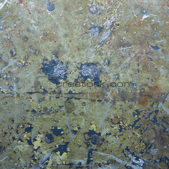 Damaged and rusted metal panels texture from the Yak-9 fighter