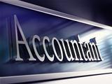 accountant company plaque, 3d rendering