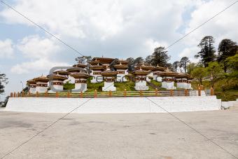 Dochula stupas at dochula pass bhutan