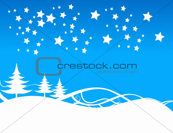 blue christmas background, vector illustration
