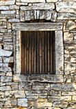 Window of an old stone house
