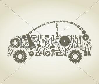 Tool the car