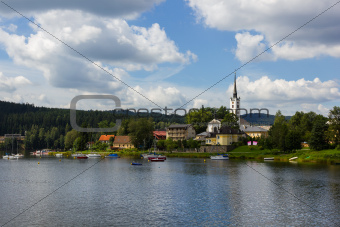 Frymburk - small town near Lipno lake, Czech Republic.