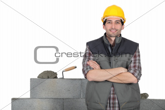 craftsman mason posing