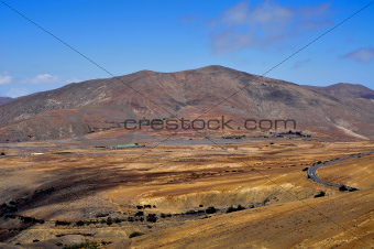 landscape of Fuerteventura, Canary Islands, Spain
