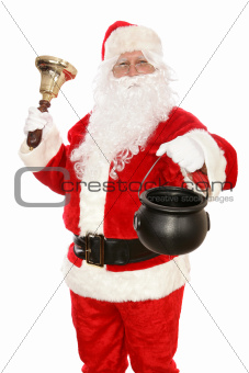 Charity Santa Taking Collection