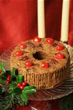 Christmas Fruitcake Still Life