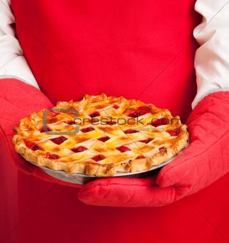 Lattice Top Homemade Cherry Pie