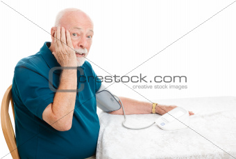 Senior Surprised by Blood Pressure