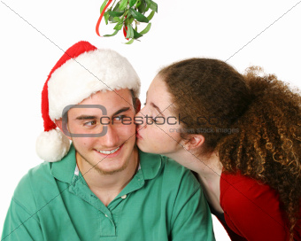 Christmas Kiss Under Mistletoe