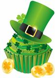 St Patricks Day Leprechaun Hat Cupcake